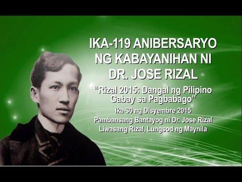 Ika-119 Anibersaryo ng Kabayanihan ni Dr. Jose Rizal