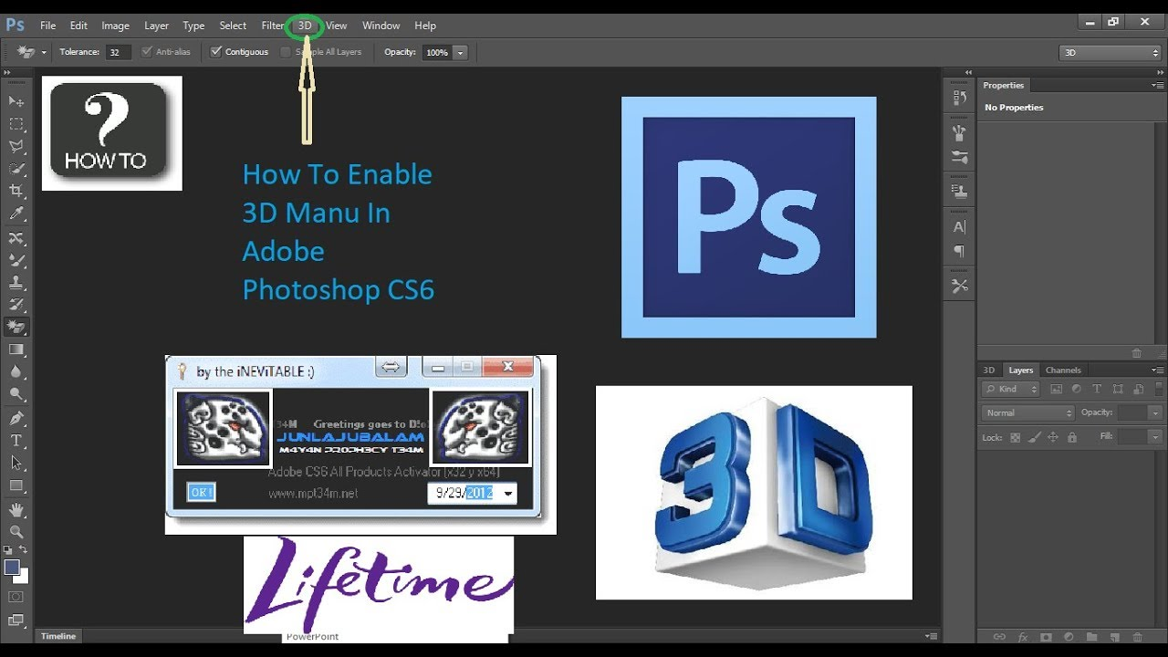 enable 3d photoshop cc mac