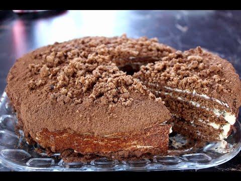 Торт на сковороде Наполеон Рецепты тортов, пошаговое