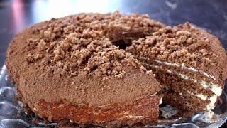 Шоколадный торт на сковороде.