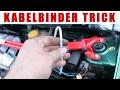 Schelle durch Kabelbinder ersetzen - Trick Schrauber Hack :P