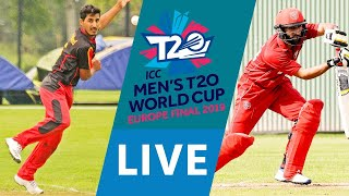 LIVE CRICKET: ICC Men's T20 World Cup Europe Final 2019 - Germany vs Denmark. Match starts 15.45 BST