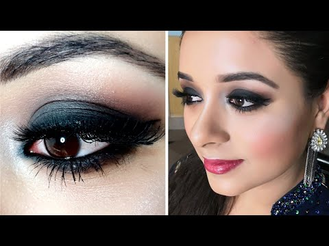 Smokey Eye Make Up Tutorial For Party, Easy Eye Make Up Look with Khanum thumbnail