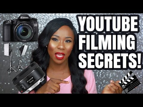 YOUTUBE FILMING SETUP AND EQUIPMENT - (CAMERA, LIGHTS, CAMERA SETTINGS,TIPS....AND MANY MORE)