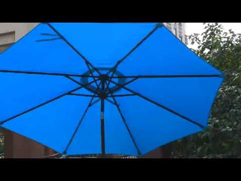 Sundale Outdoor Solar Powered 32 LED Lighted Outdoor Patio Umbrella(PU017)