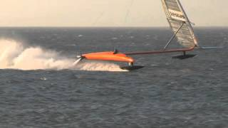 "VESTAS Sailrocket 2. ""The magic mile"" world record*..."
