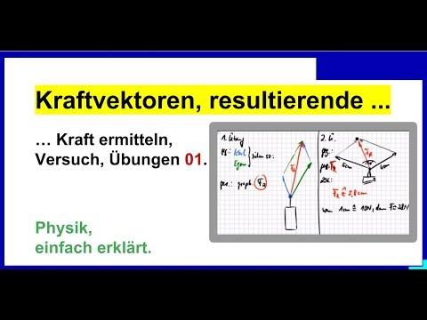 Kraftvektoren, resultierende Kraft ermitteln, Übungen 01, Physik ...