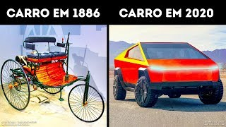 A Evolução dos Carros ao Longo de 100 Anos