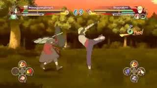Madara & Obito vs Yugito (Two Tails) : Naruto Shippuden Ultimate Ninja Storm Revolution