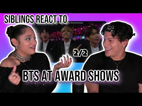 Siblings React To BTS Being Chaotic Crackheads In Award Shows | 2/2 | REACTION