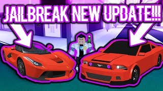 BUYING THE BRAND NEW CARS IN ROBLOX JAILBREAK?! (Ferrari & Shelby Mustang)