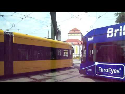 Trams in Dresden, Germany