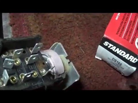1963 Chrysler headlight switch replace - YouTube