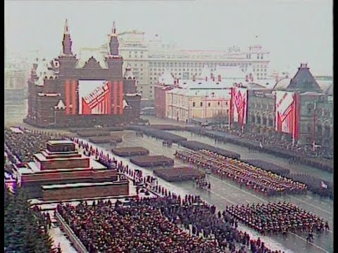 HD Soviet October Revolution Parade, 1988 Part I Парад 7 Ноября