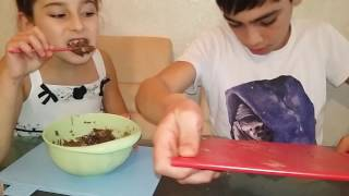 Делаем шоколадный салат из oreo, nesquik, nutella!!!