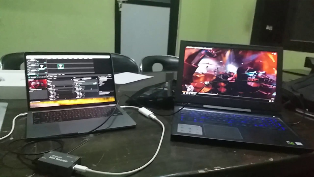 Bmd Ultra Studio Mini Recorder With Macbook Pro 2017 Model Thunderbolt 3 Working In Resolume Youtube