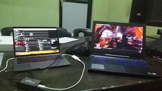 BMD Ultra Studio Mini Recorder with MacBook Pro 2017 Model Thunderbolt 3 working in Resolume
