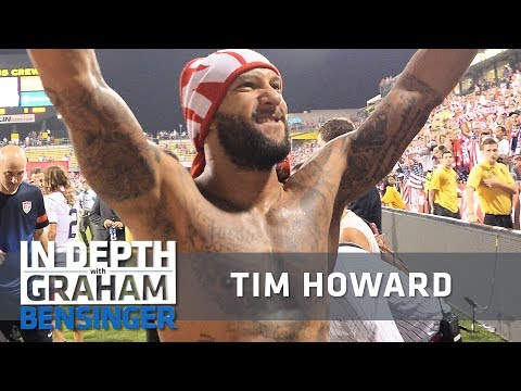 Tim Howard covered in tattoos