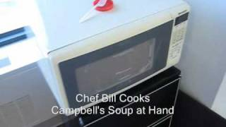 Chef Bill Cooks microwave Soup at Hand 2009 12 14