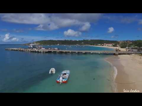 Sandy Ground Road Bay Anguilla Shipwrecks Aerial Filming
