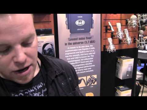 NAMM 2011, Jeff Beck @ CAD Audio,Home Recording Studio Mics, CAD E70, CAD GXL2200SP