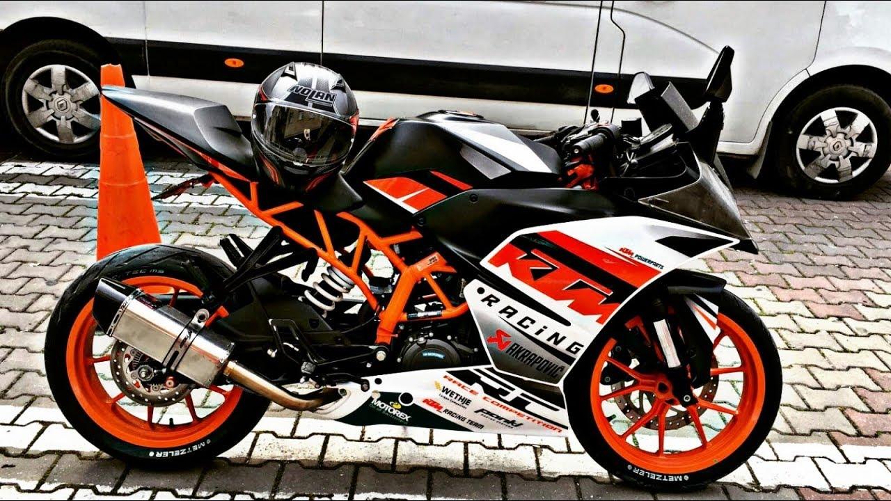 Ktm Rc 250 Ilk Surus L Night Ride Youtube