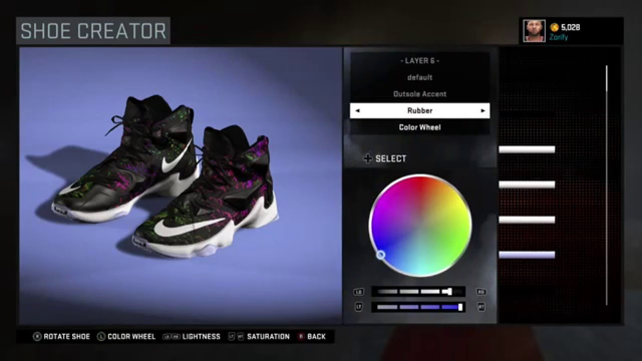 check out 0d3af bf411 NBA 2K16 Shoe Creator - Nike LeBron 13