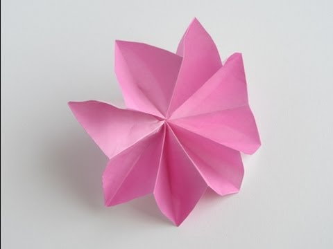 Origami 8 petal flower youtube origami 8 petal flower mightylinksfo