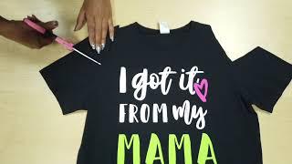 Zumba Wear DIY T- shirt Cutting Tutorial-  Mama & Me