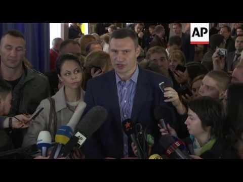 Klitschko and Poroshenko on Ukraine elections
