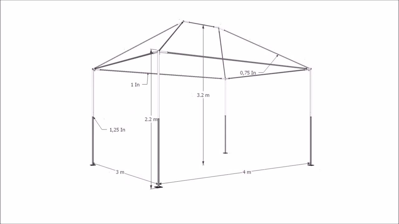 tenda gazebo 4x3 youtube. Black Bedroom Furniture Sets. Home Design Ideas