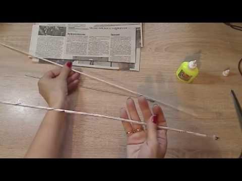 Как крутить трубочки из газет для плетения корзин