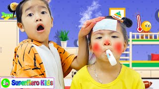 Sick Song | 동요와 아이 노래 | 어린이 교육 | SuperHero Kids
