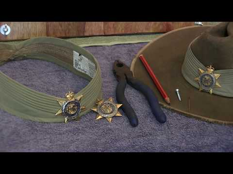 How To Place A Hat Badge On A Puggaree
