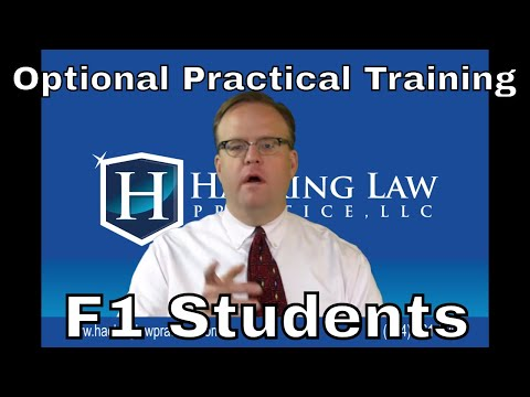 OPT - Optional Practical Training for F1 Students