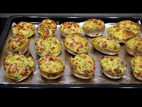 Картофельные лодочки с сыром и ветчиной запеченые в духовке.