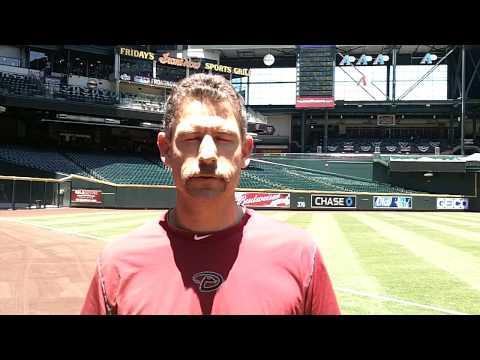DBacks head athletic trainer Ken Crenshaw talking ...