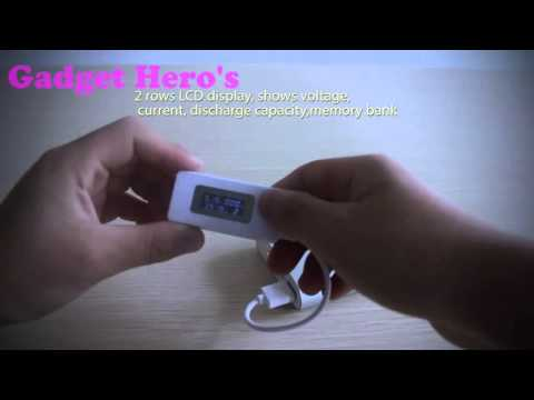 Gadget Hero's USB Port Tester Charger Capacity Current Voltage Meter