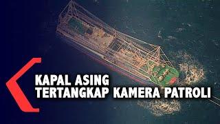 Penampakan Kapal Asing Tertangkap Kamera Patroli Udara TNI AU di Natuna