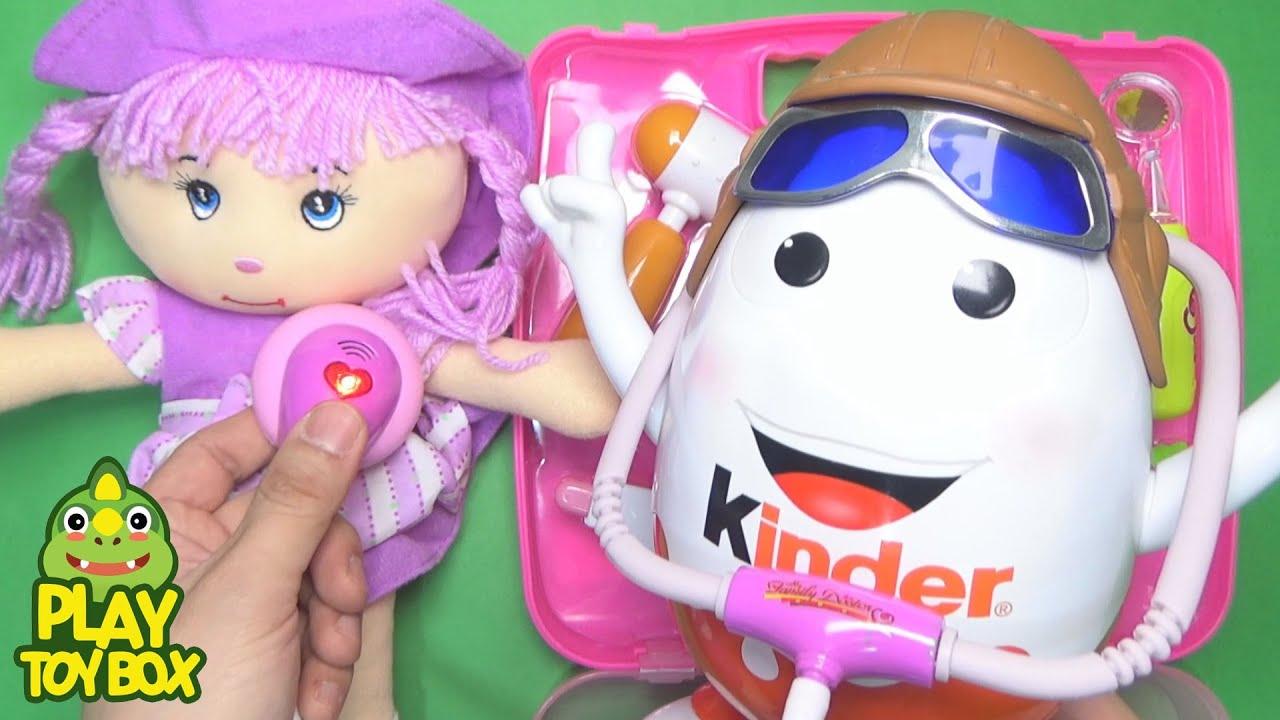 Doctor's Kit Doll for kids with Toys Surprise Egg Kinder Joy Mascot [KOR]