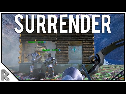 SURRENDER!  First Volcano Raid!  Ark Survival Evolved