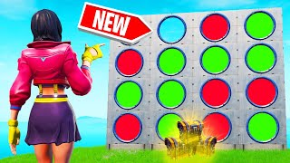 Playing FOUR IN A ROW In FORTNITE! (*NEW* Game Mode)