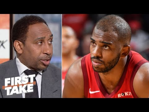 Chris Paul denies ever requesting a trade from the Rockets - Stephen A. | First Take