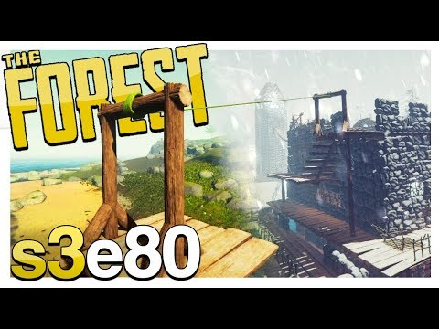 SNOW BIOME TO BEACH ZIPLINE | The Forest Gameplay S3E80 (Alp