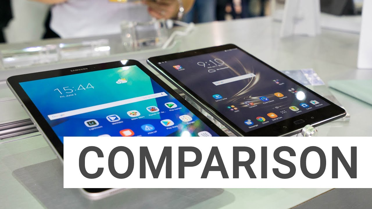 Samsung Galaxy Tab S3 and Asus ZenPad 3S 10 - Comparison