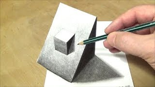How to Draw Truncated Cube - Drawing Simple Truncated Cube #1 - 3D Illusion by Vamos