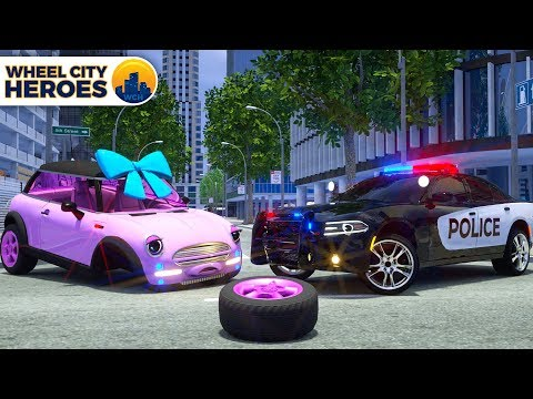 Repair Tyre of Mini Cooper by Police Car Sergeant Lucas | Wheel City Heroes (WCH) | New 3D Cartoon