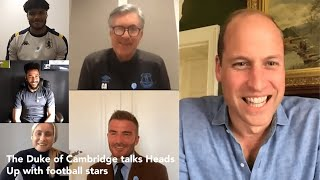 The Duke of Cambridge talks mental health and Heads Up with football stars!