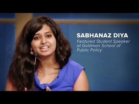 Sabhanaz Diya Featured Student Speaker -- Goldman School of Public Policy Board Dinner March 2017