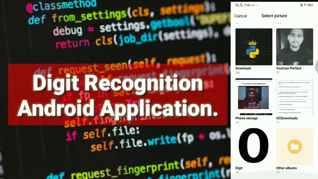 """""""Digit Recognition Android Application Using Tensorflow & Flutter Demo Video"""""""